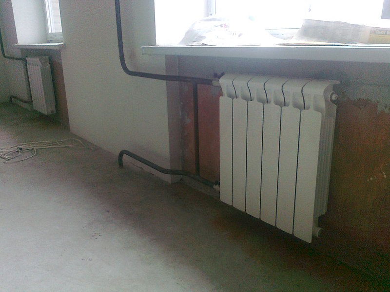 Монтаж отопления здания